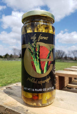 Ely Farms Pickled Asparagus 16 Ounce Jar
