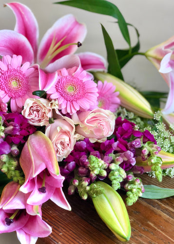 FLORIST CHOICE BOUQUET PINKS - from