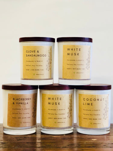 VELVETY ECO SOY CANDLES