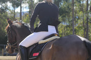 Competition Honeycomb Technical Tights: White-Pants-Equestrian Collective