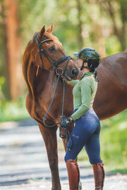 Honeycomb Technical Tights: Navy-Pants-Equestrian Collective