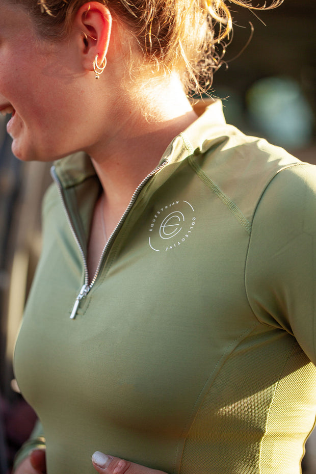 Mesh Base Layer: Fern-Top-Equestrian Collective