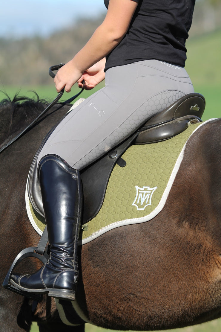 Honeycomb Technical Tights: Grey-Pants-Equestrian Collective