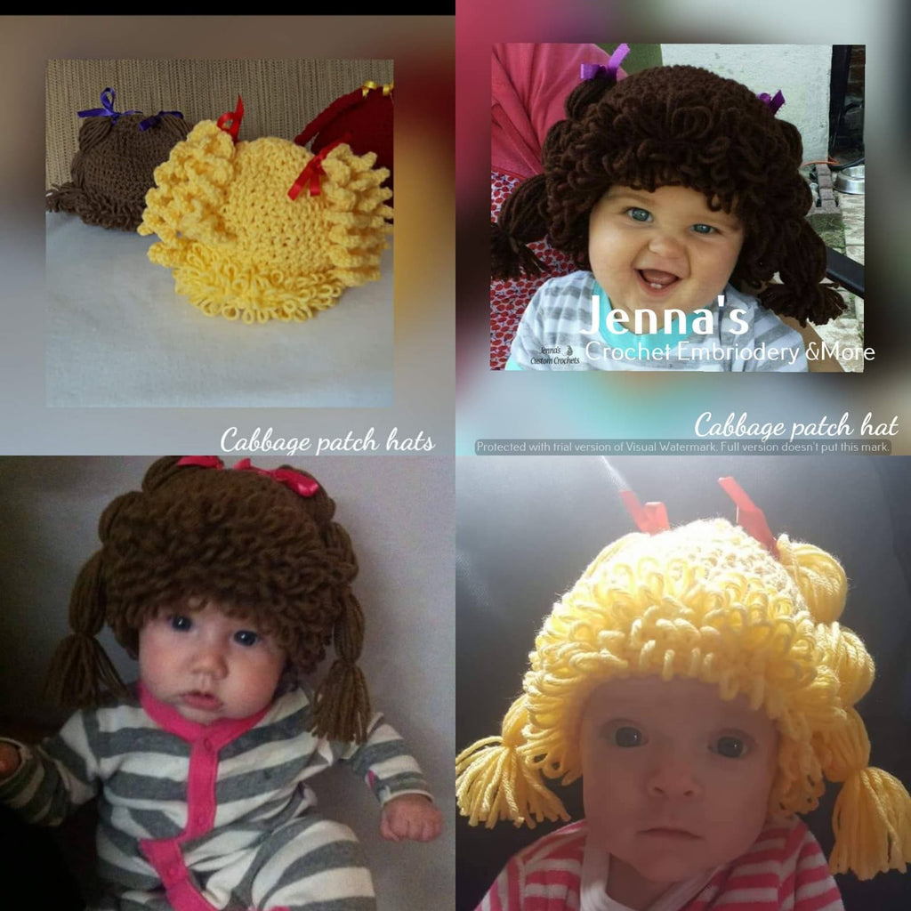 dead8d82edf Cabbage patch hat – Jenna s Custom Crochet Embroidery   More