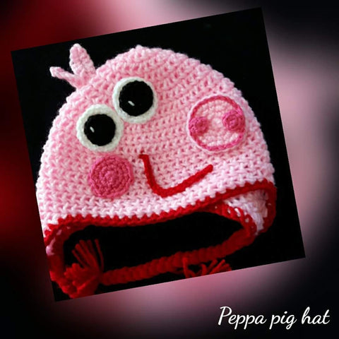 Peppa Pig Hat Jennas Custom Crochet Embroidery More