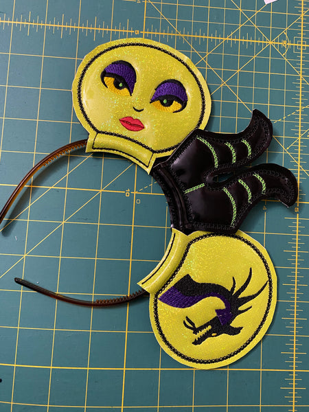 Evil Queen Mal Character Ear Set
