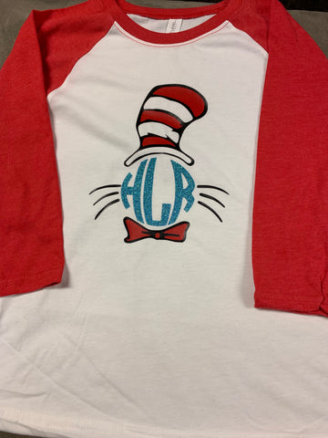 Cat in the Hat Monogram Tee