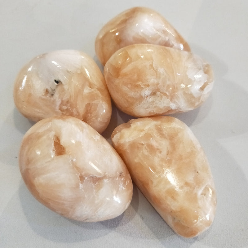Stilbite Tumbled Stones