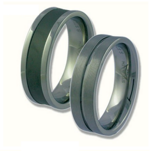 Stealth Men - Titanium & Ceramic and Stainless Steel Rings