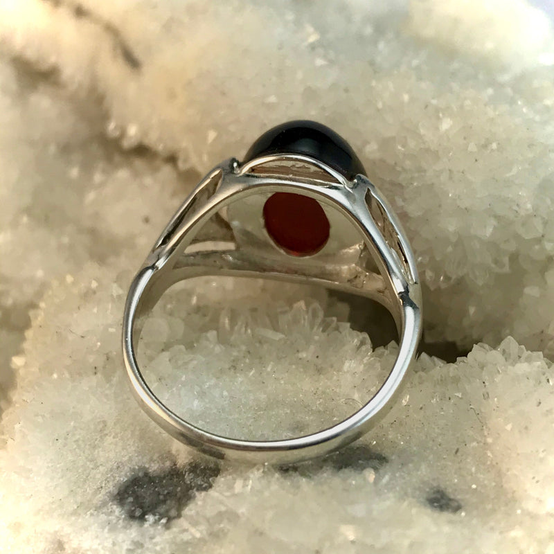 Amber Baltic Oval Ring