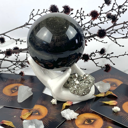 Gold Sheen Obsidian Sphere