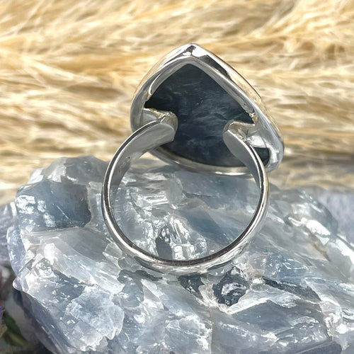Pear Shaped Pietersite Ring