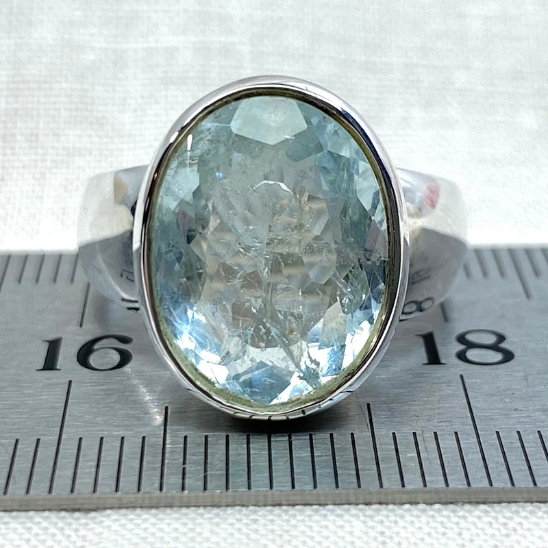 Aquamarine Oval Ring