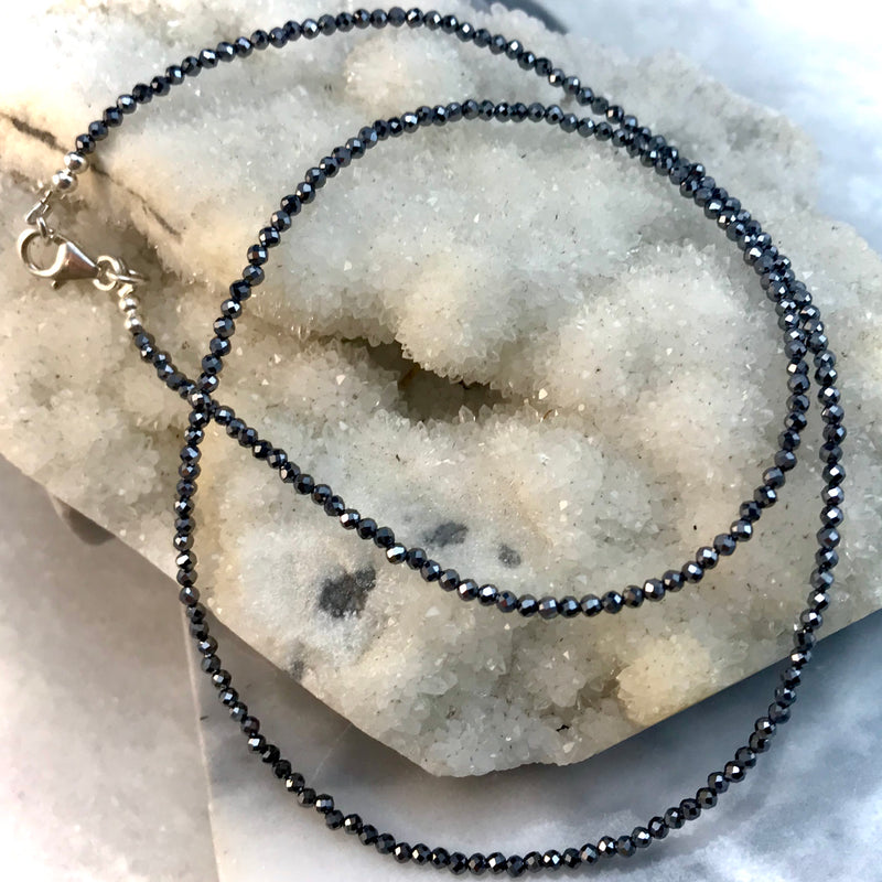 Hematite Faceted Bead Necklace