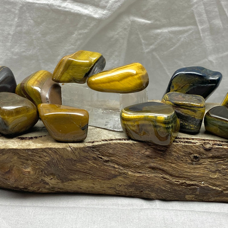 Golden Tiger's Eye Tumbled Stones