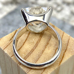Clear Quartz Trillion Cut Ring