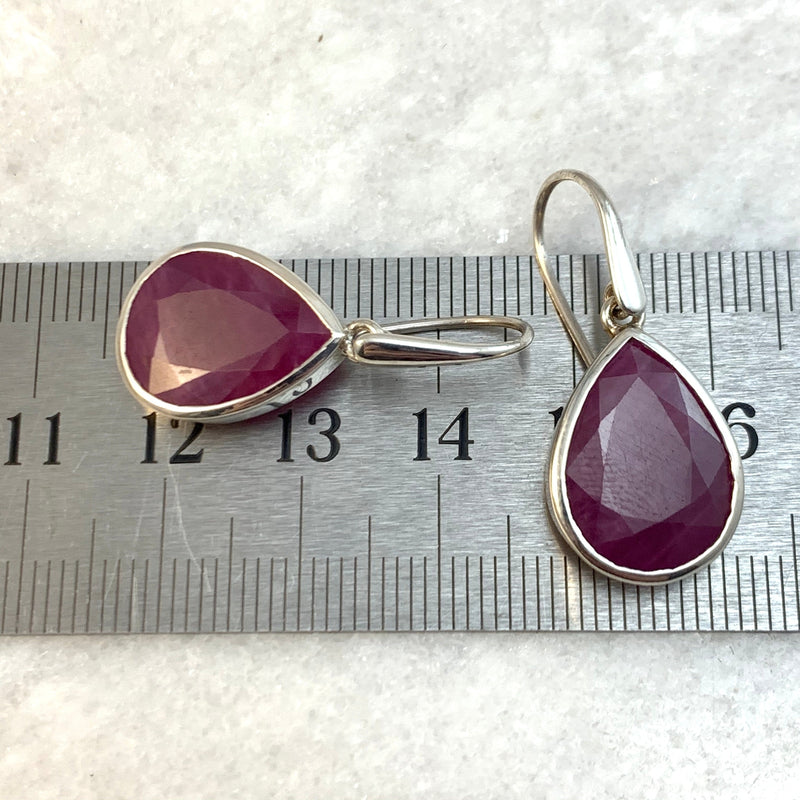 Ruby Teardrop Large Earrings