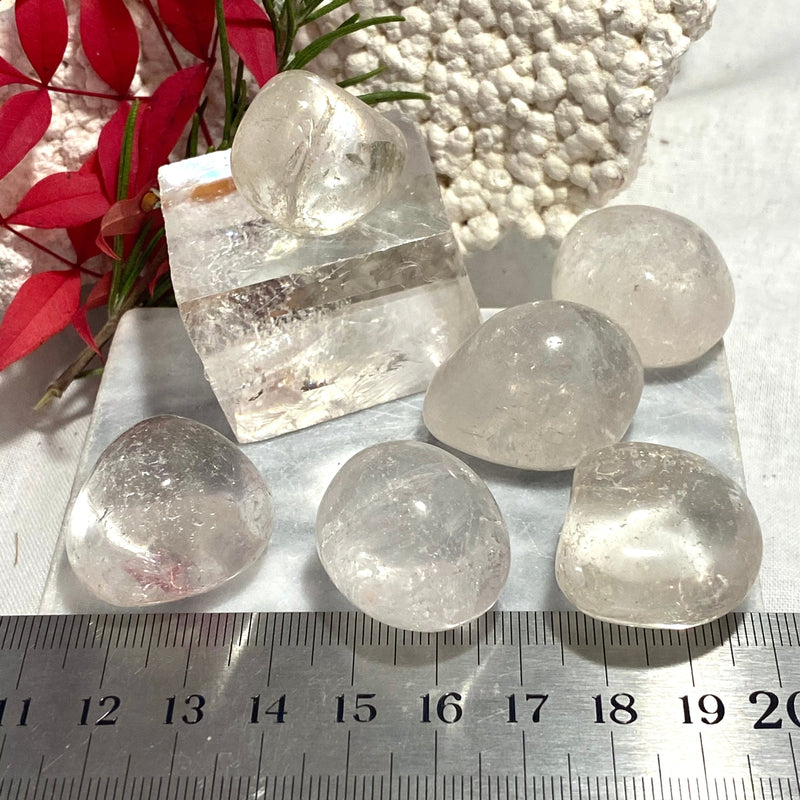 Clear Quartz Tumbled Stones