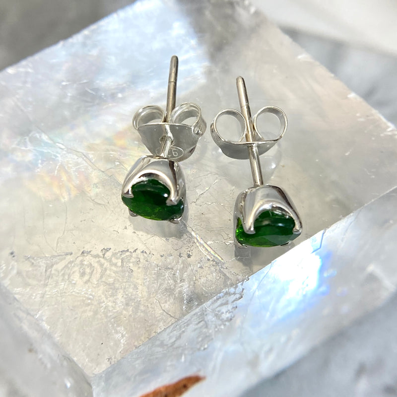 Chrome Diopside Studs