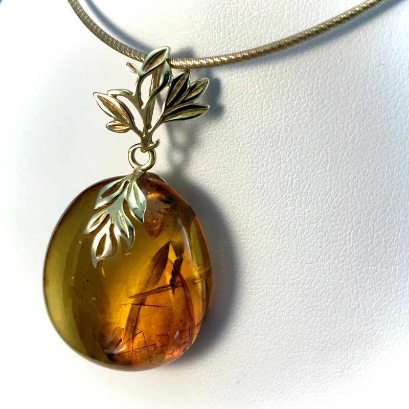 Baltic Amber Pendant with Insect Inclusion