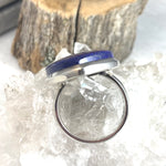 Lapis Lazuli Pointed Oval Ring