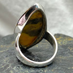 Bumblebee Jasper Pointed Oval Ring