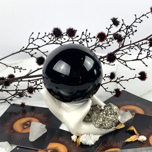 Small Black Obsidian Sphere