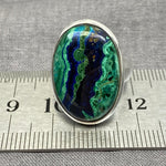 Azurite Malachite Oval Ring