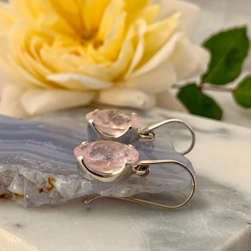Morganite Oval Earrings