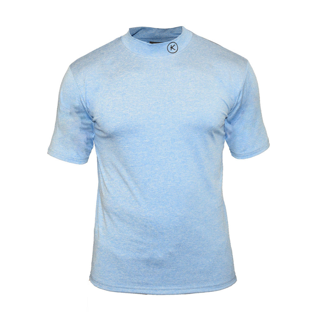 Men's Infrared Mock Turtle Neck, Light Blue