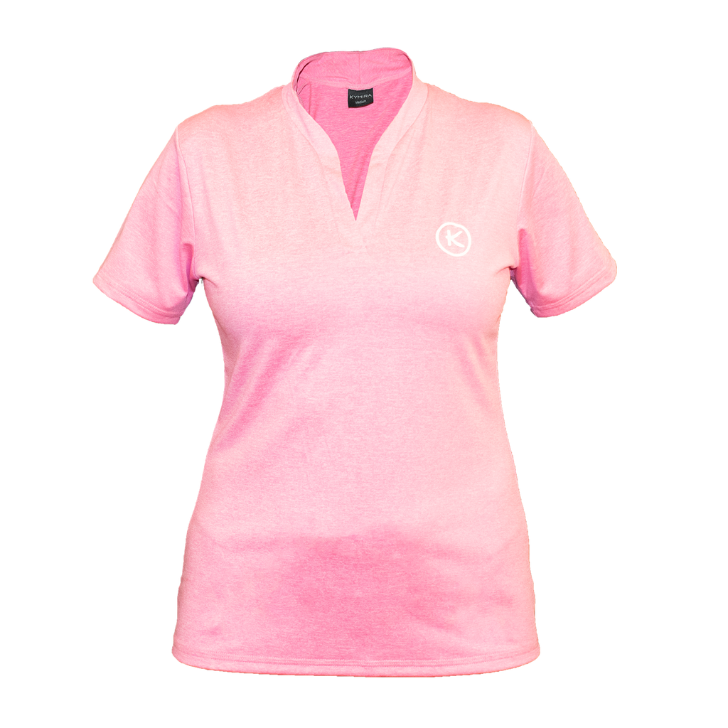 Women's Infrared Mandarin Polo, Pink