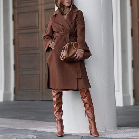 Fashion Everyday Solid Color Coat