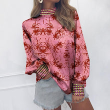 Load image into Gallery viewer, Fashion Vertical   Collar Long-Sleeved Print Matching Shirt