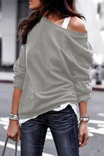 Load image into Gallery viewer, One Shouder Casual Soft Long Sleeve T-Shirt