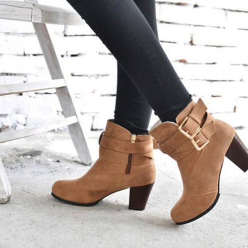 Martin Boots In Chunky Ankle Boots