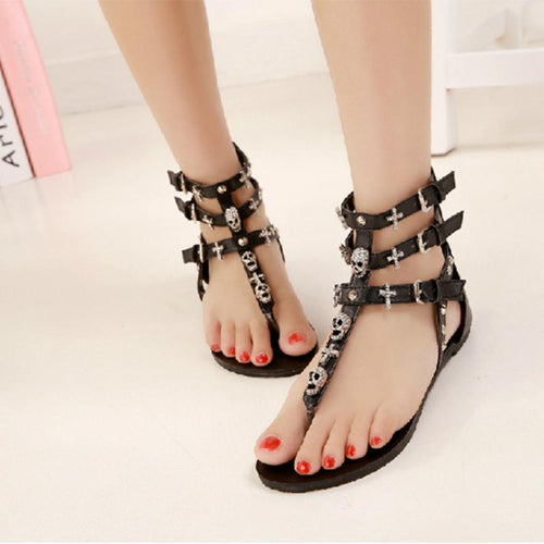 Rhinestone Taro Punk Wind Sandals Female