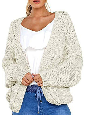 Loose Fitting  Plain Knit Cardigans