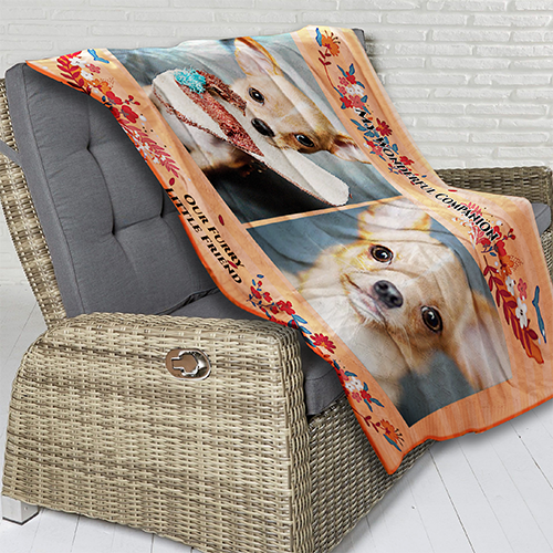 My Wonderful Companion Plush Fleece Blanket - 50 x 60