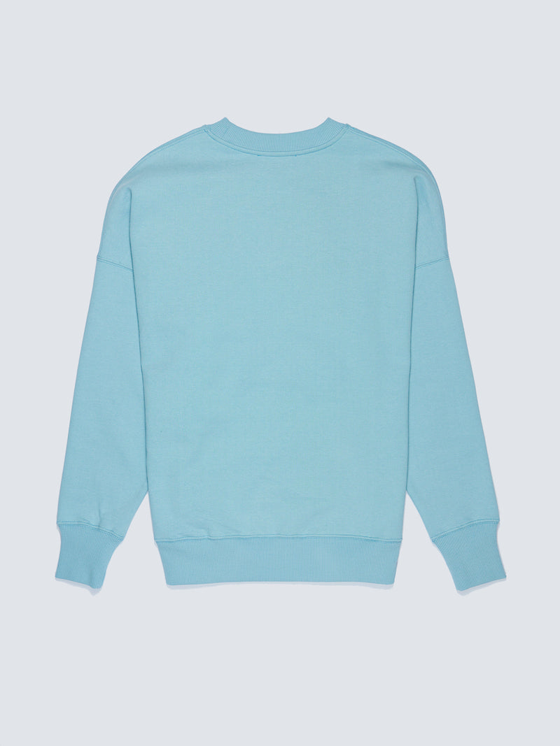GLORY BLUE LOGO COLLAGE CREWNECK