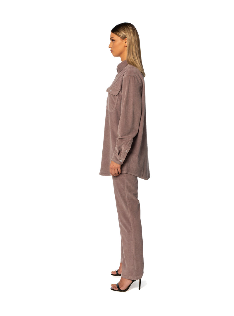 Umber Straight Cord Pant