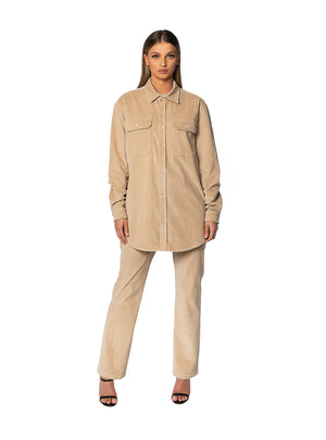 Nude Straight Cord Pant