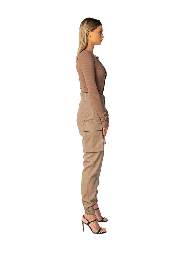 Brown Highwaist Army Pants