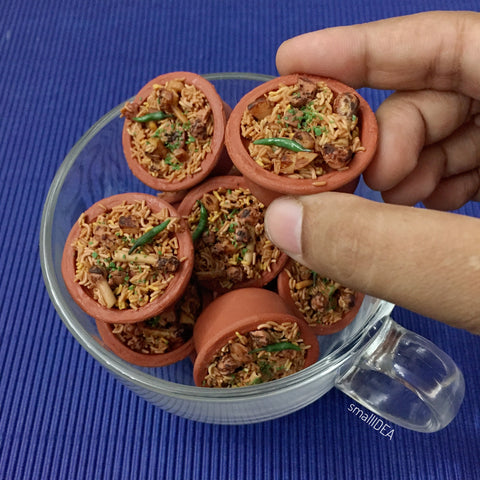 Handi Biryani Food Magnet Hyderabadi Indian Miniature Mutton Biryani Magnet Unique Food Lover Gifts