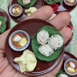Indian Idiyappam Miniature Food- Egg Curry Food Miniature- Indian Food- South Indian Meal Magnet- Realistic Food Magnet Miniature