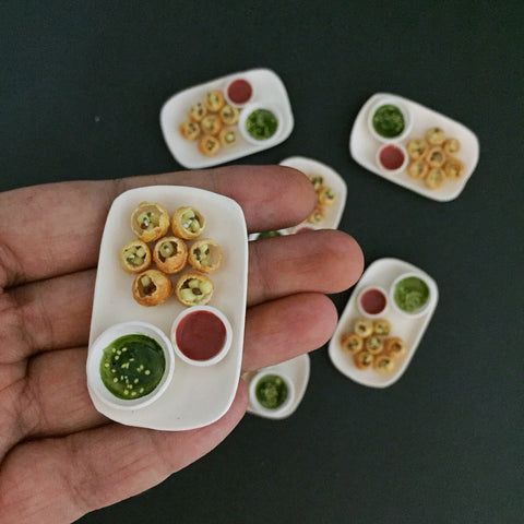 Miniature Pani Puri Magnet- Golgappa Fridge Magnet- Puchka Miniature Magnet- Indian Chaat Magnet- Cute Food Miniature
