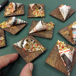 Miniature Sukhi Bhelpuri Magnet- Indian Chaat Food Miniature- Realistic Food Magnet-Foodie Gifts