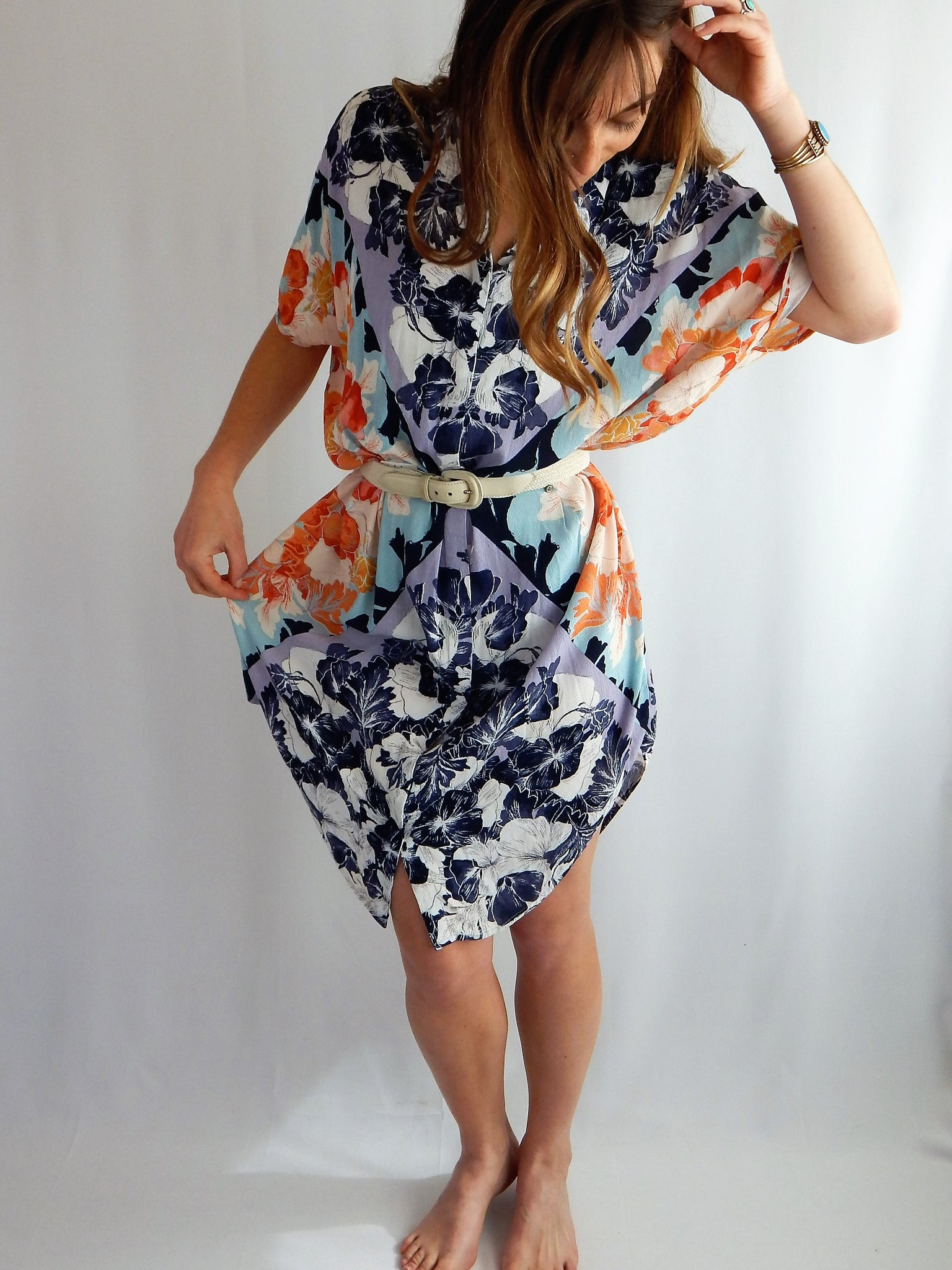 15bcfe43e78 Anthropologie Maeve Floral Button Down Shirt Dress – Lucky Roots ...