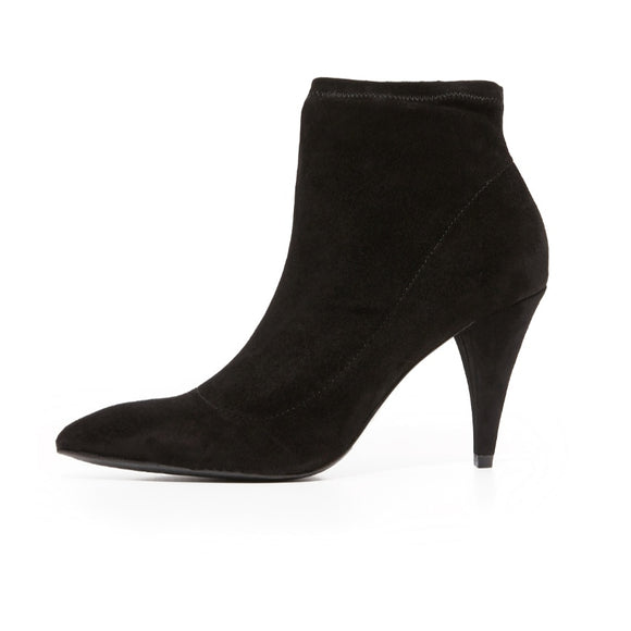Alice and Olivia Black Suede booties