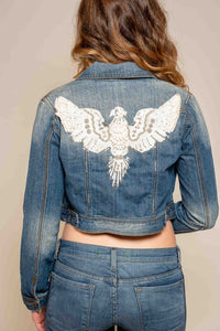 Staring at Stars Cropped Jean Jacket