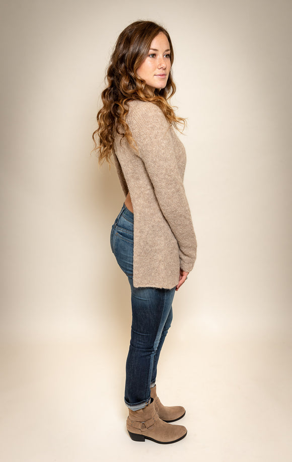 Ayni open back alpaca wool sweater